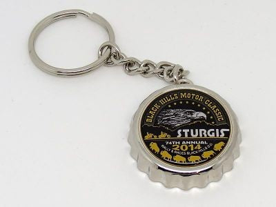 Official Sturgis Motorcycle Rally Bottle Opener Key Chain