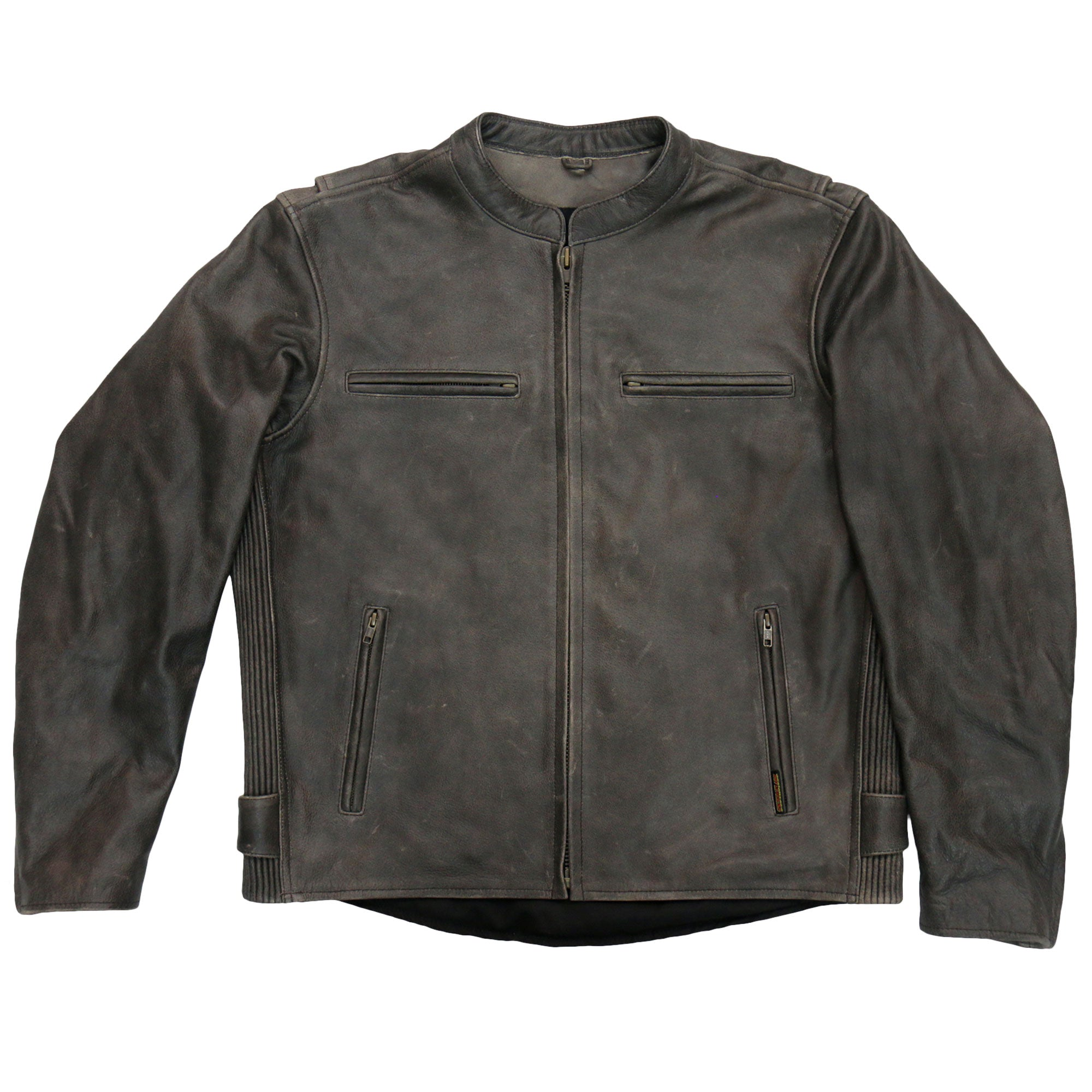 Hot Leathers Mens Brown Leather Jacket w/ Armor and Concealed Carry Pockets