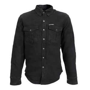 Hot Leathers Black Denim Armored Carry Conceal Shirt