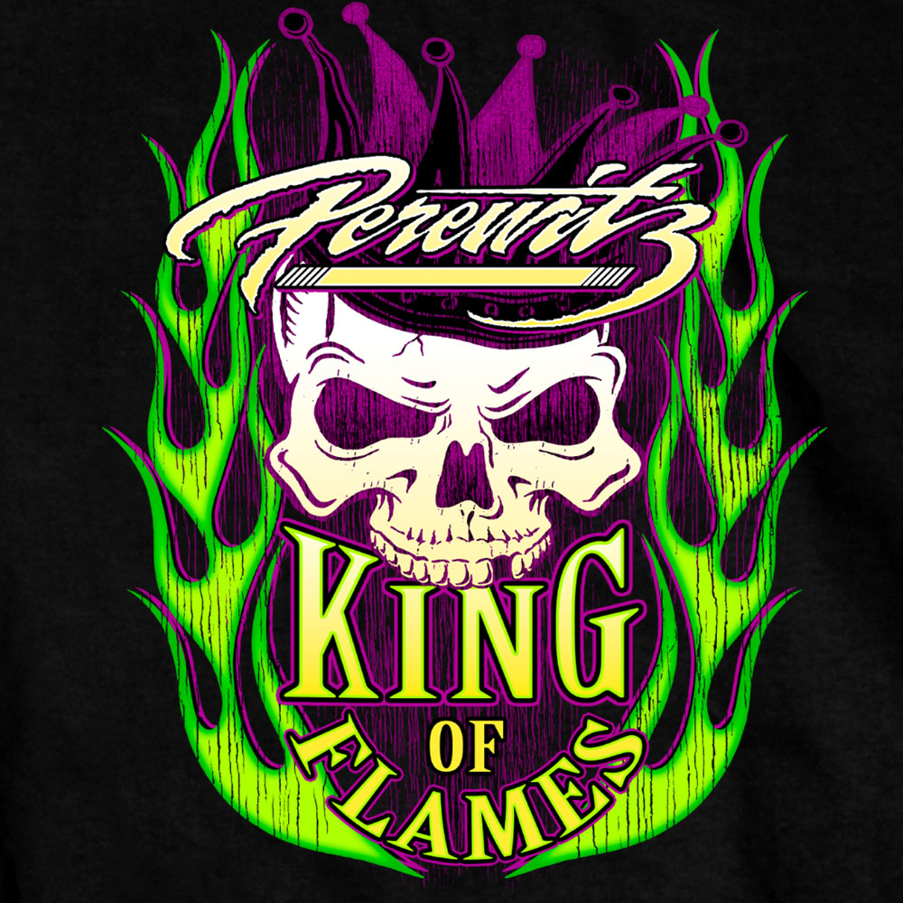 Official Perewitz King of Flames T shirt