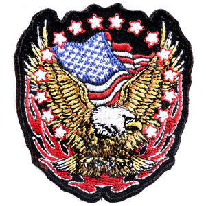 1 Width x 12 Height Hot Leathers Eagle Banner American Patch