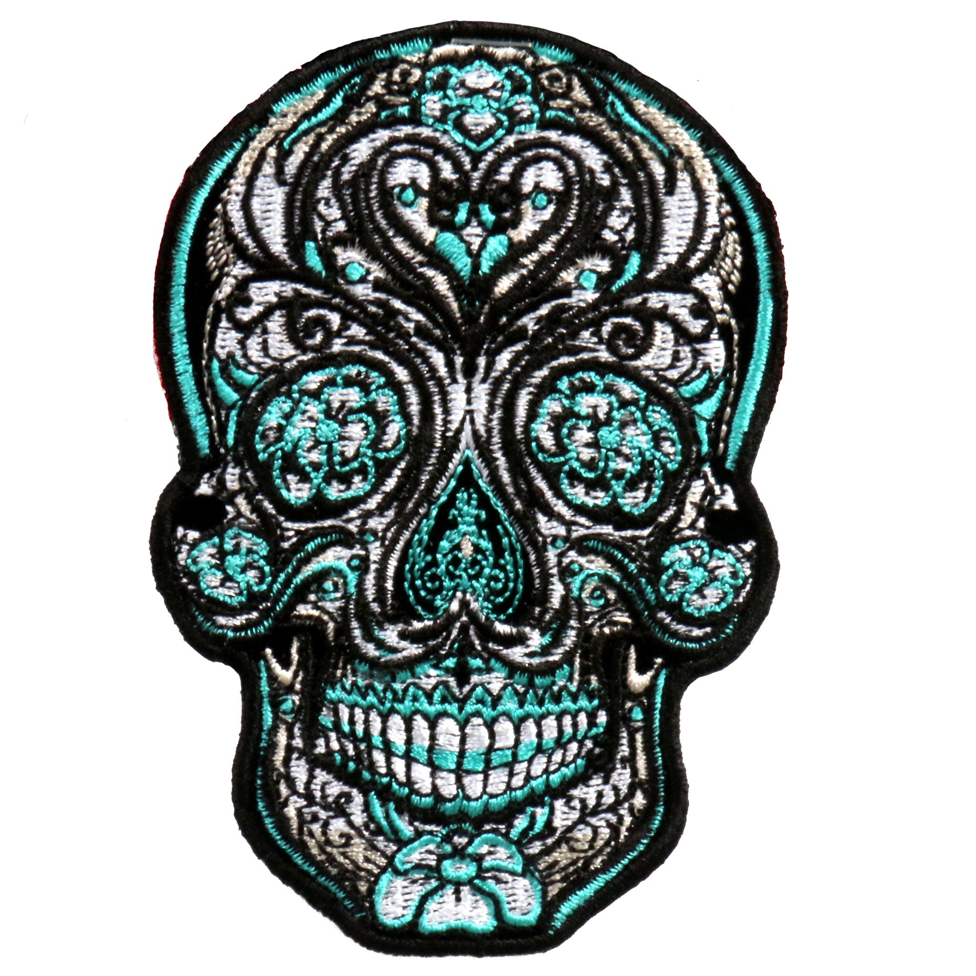 PATCH ANTIQUE SUGAR SKULL 4""
