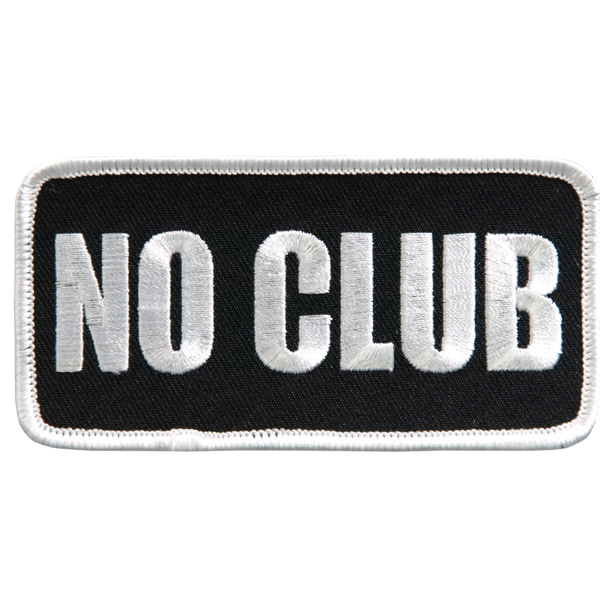 "Hot Leathers 4"" No Club Patch"