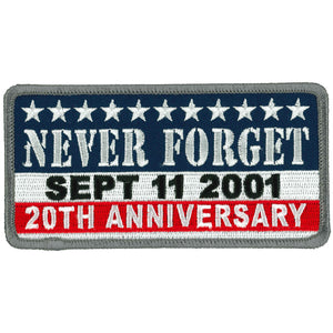 "Hot Leathers 9-11 Never Forget 4.5"" Patch"