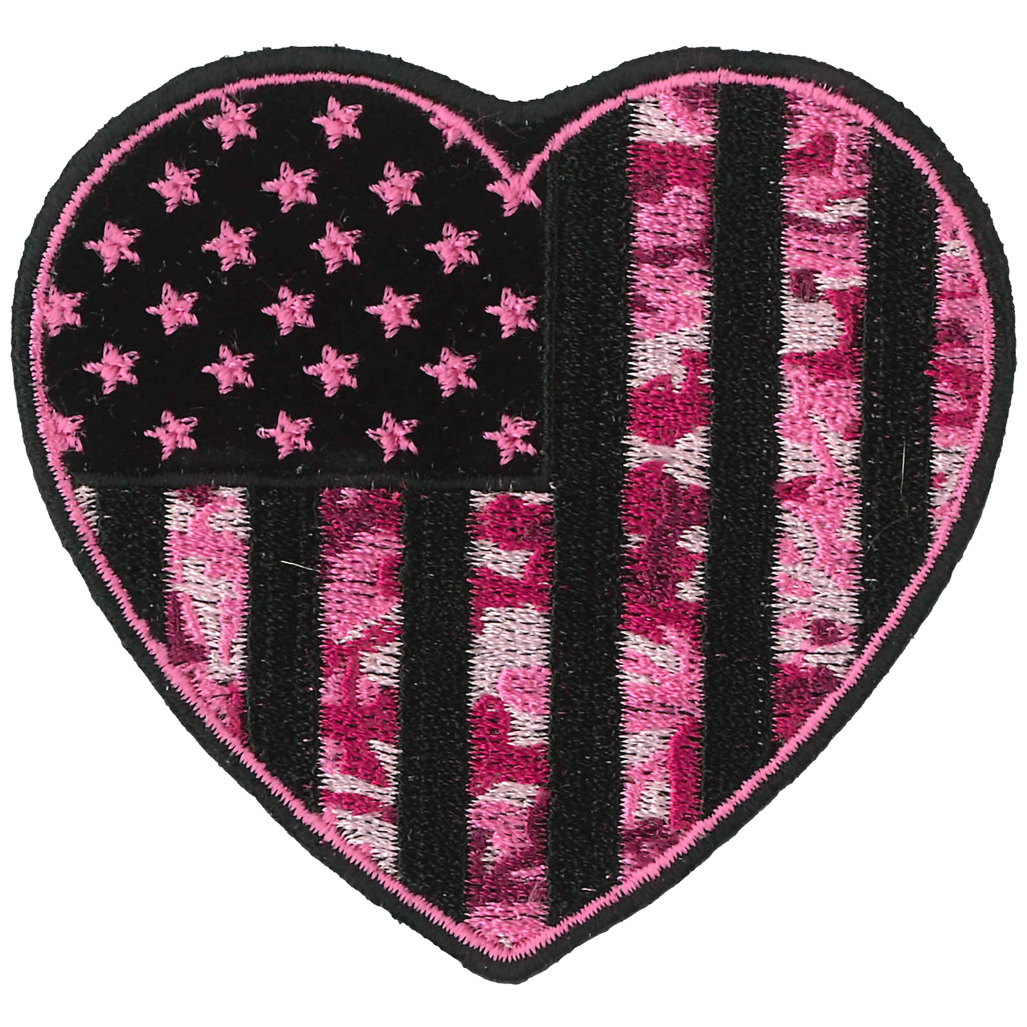 Hot Leathers Patch Camo Heart 3""