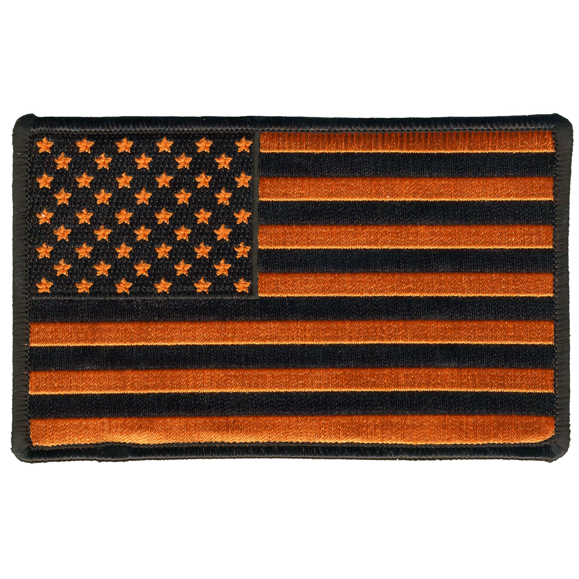 "Hot Leathers USA Orange Flag Patch 5"" x ""5"