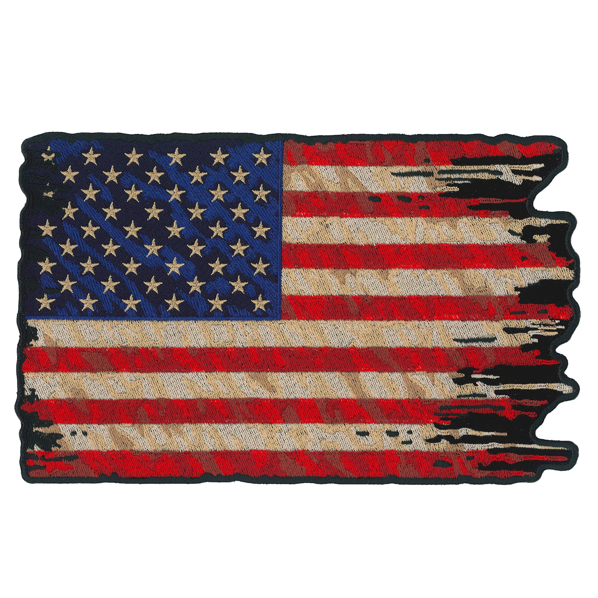 PATCH TATTERED FLAG 9""