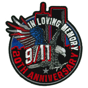 "Hot Leathers 9-11 20th Anniversary Eagle Towers 3.5"" Patch"