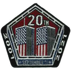 "Hot Leathers 9-11 Pentagon and Towers 3"" Patch"
