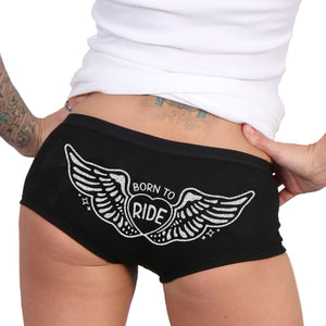Hot Leathers Born To Ride Boy Shorts