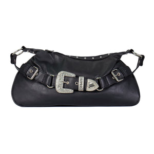 Hot Leathers 2 Pocket Purse with Bling Rhinestone Buckle