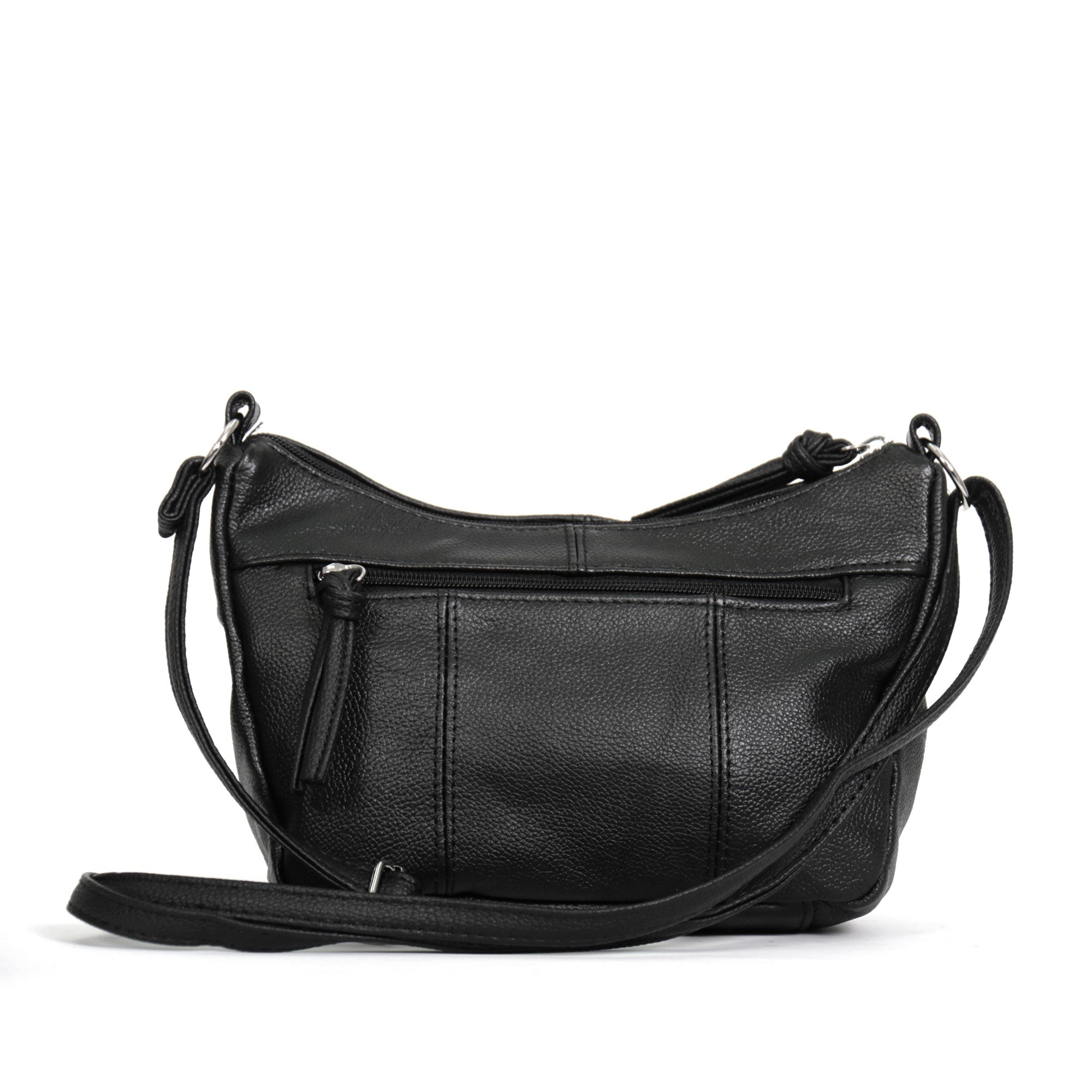 Hot Leathers Leather Purse with Two Zipper Pockets