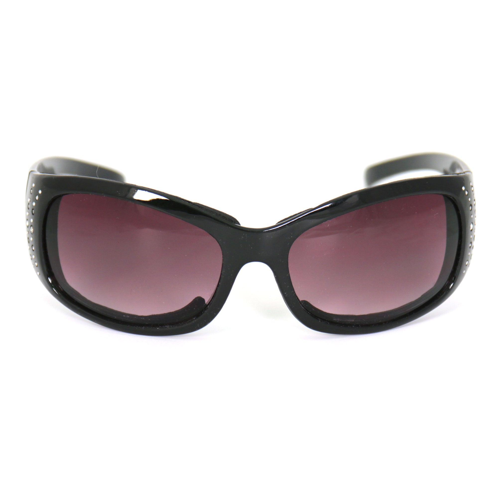 Hot Leathers Bling Sunglasses with Foam Padding and Smoke Lenses
