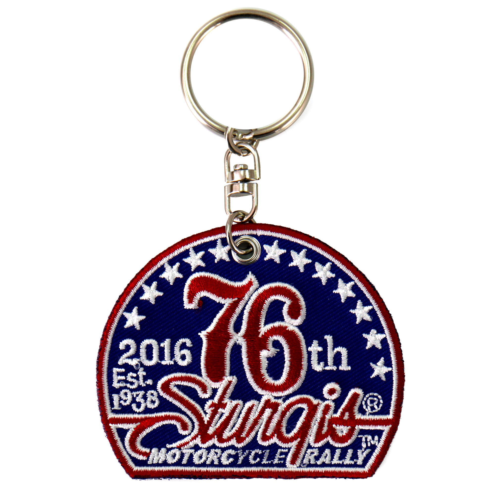Official 2016 Sturgis Motorcycle Rally 76th Logo Patch Keychain