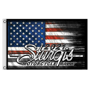 Sturgis 2021 Motorcycle Rally Heartbeat Flag