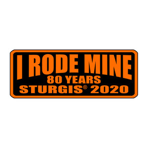 Official 2020 Sturgis Motorcycle Rally I Rode Mine Patch Orange
