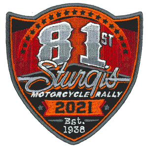 2021 Sturgis Motorcycle Rally 81st Logo Patch