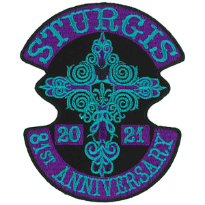 2021 Sturgis Motorcycle Rally Cross De Lis Patch