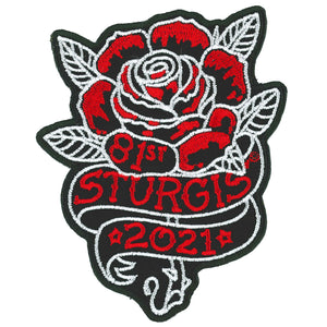 2021 Sturgis Motorcycle Rally Rose Patch