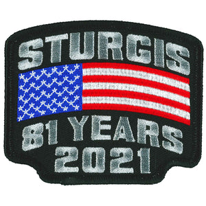 2021 Sturgis Motorcycle Rally Flag Rocker Patch