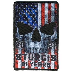 2021 Sturgis Motorcycle Rally Patriot Patch
