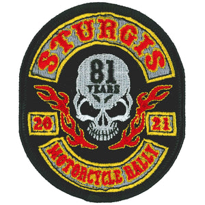 2021 Sturgis Motorcycle Rally Rocker Skull Patch