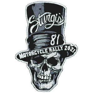Sturgis Motorcycle Rally 2021 Stove Pipe Skull Patch