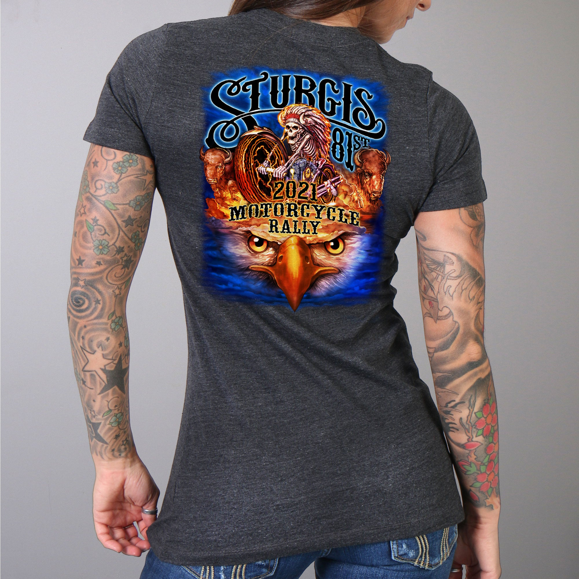 Sturgis 2021 Motorcycle Rally #1 Design American Spirit T shirt