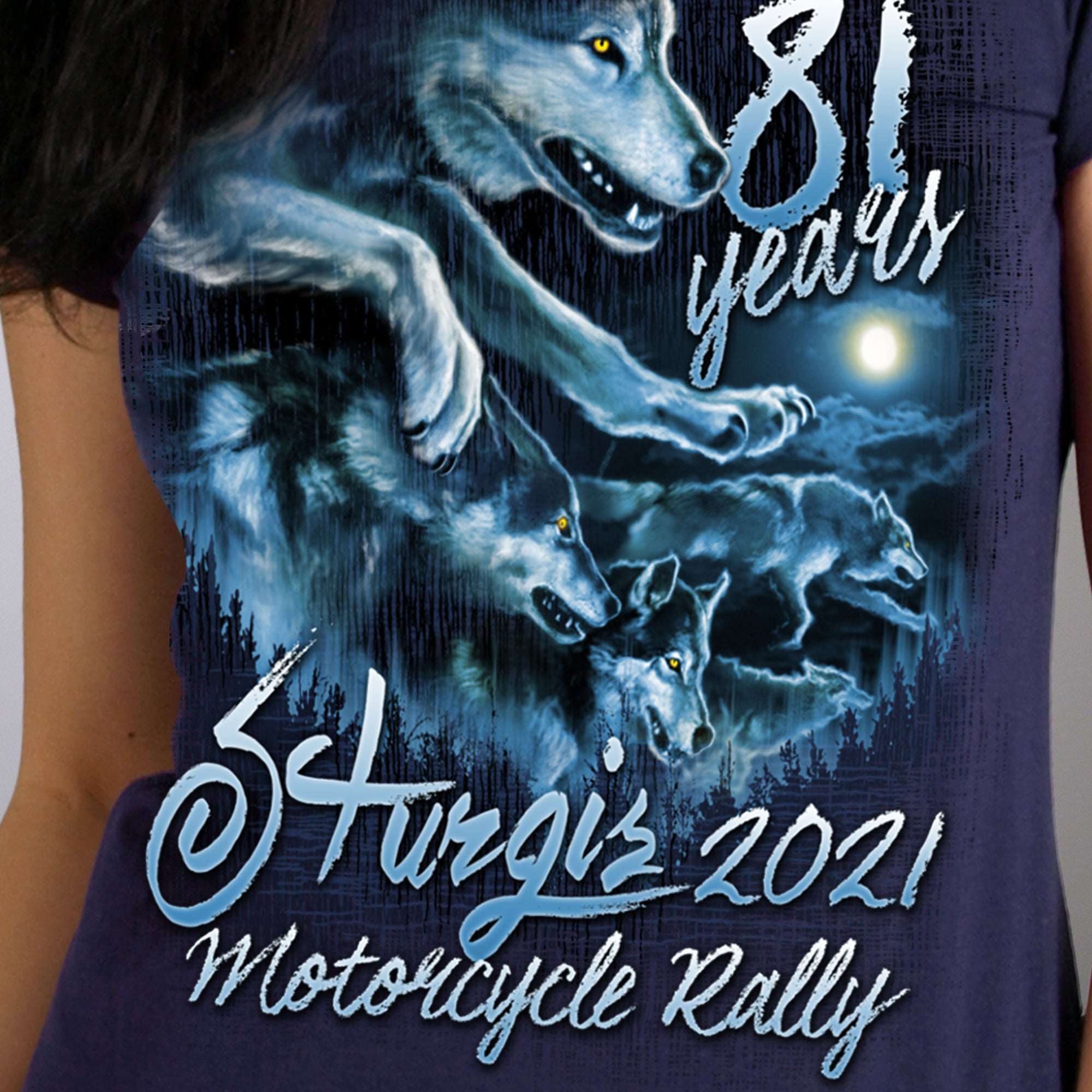 Sturgis 2021 Motorcycle Rally Wolf Pack T shirt