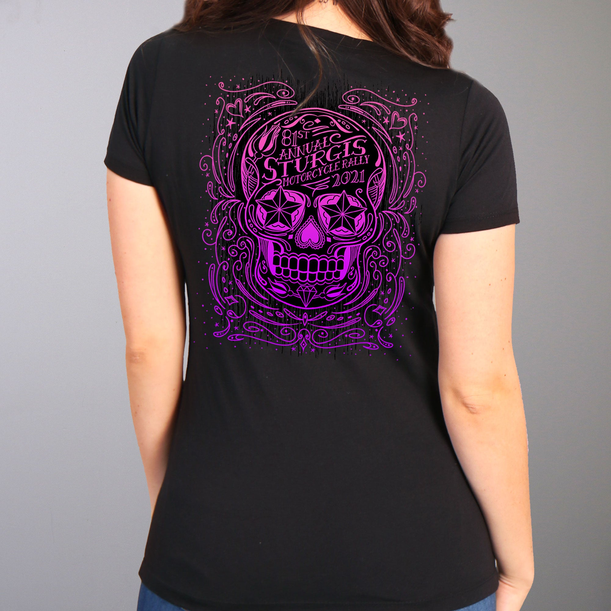 Sturgis 2021 Motorcycle Rally Sugar Skull T shirt