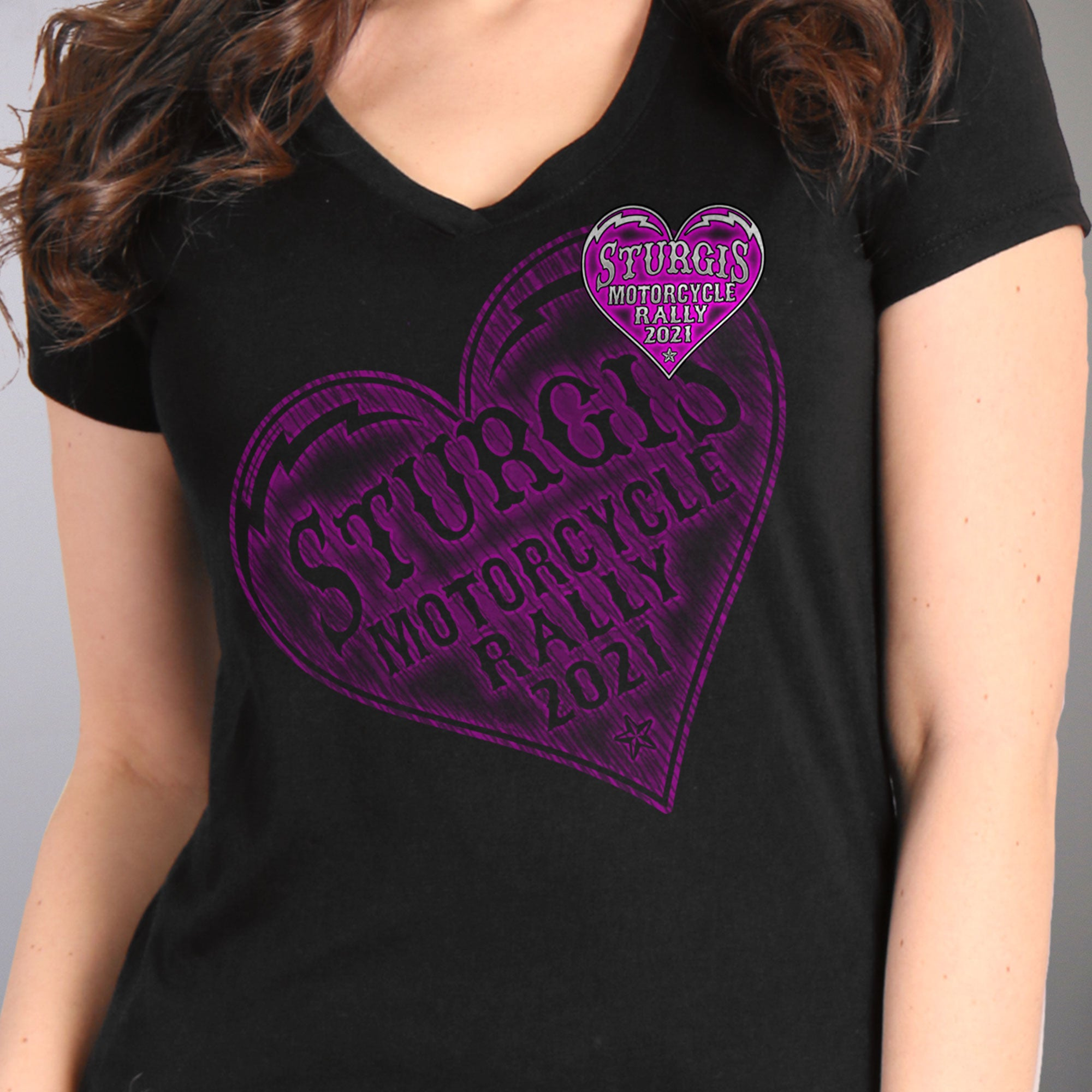 Sturgis 2021 Motorcycle Rally Heart Angel Wings T shirt