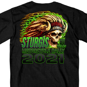 Sturgis Motorcycle Rally 2021 Web Exclusive Skeleton Chief Short Sleeve