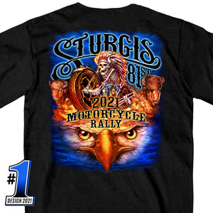 Sturgis Motorcycle Rally 2021 #1 Design American Spirit Short Sleeve