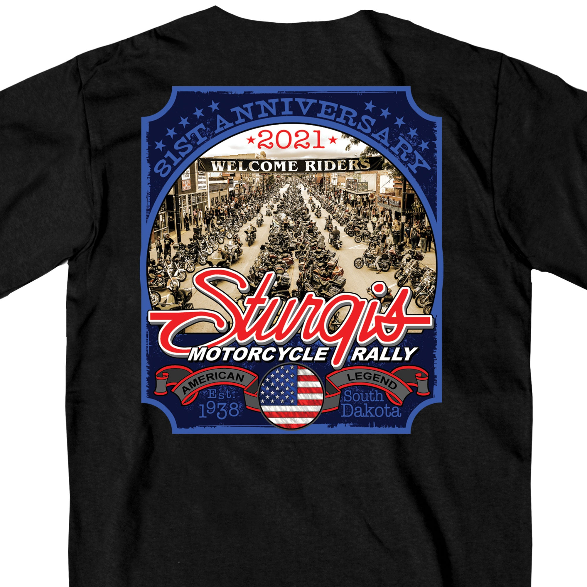 Sturgis 2021 Motorcycle Rally Main Street Photo T shirt