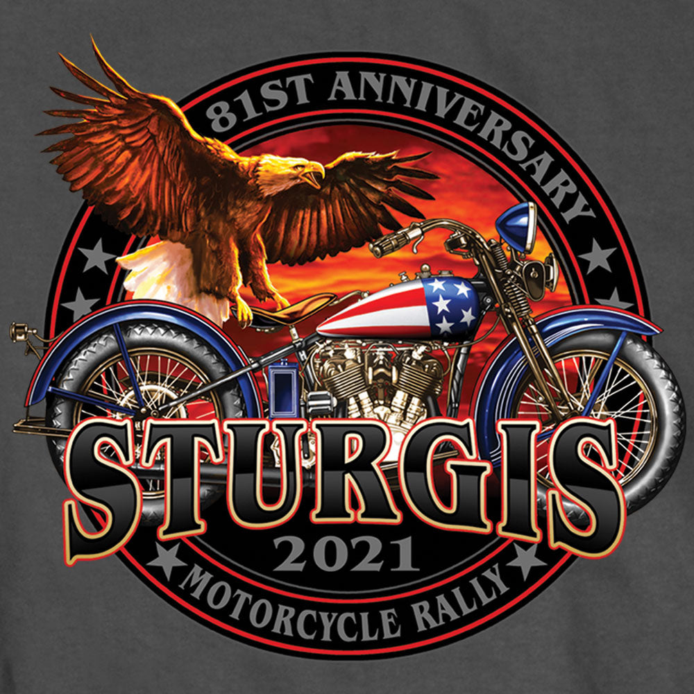 Sturgis 2021 Motorcycle Rally Flag Bike T shirt