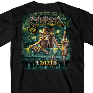 Sturgis 2021 Motorcycle Rally Saloon T shirt