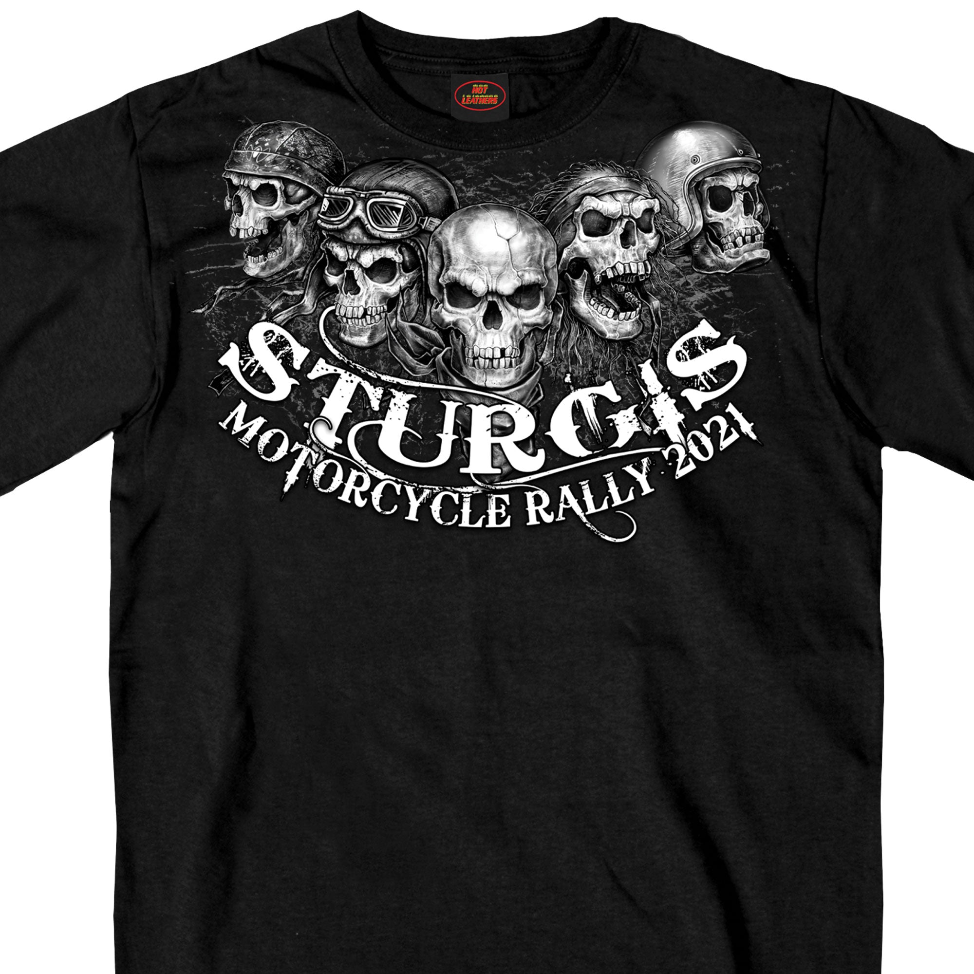 Sturgis 2021 Motorcycle Rally Five Skulls T shirt
