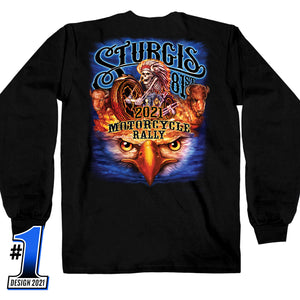 Sturgis Motorcycle Rally 2021 #1 Design American Spirit Long Sleeve