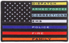 "Hot Leathers 4"" Thin Line First Responders Flag Patch"