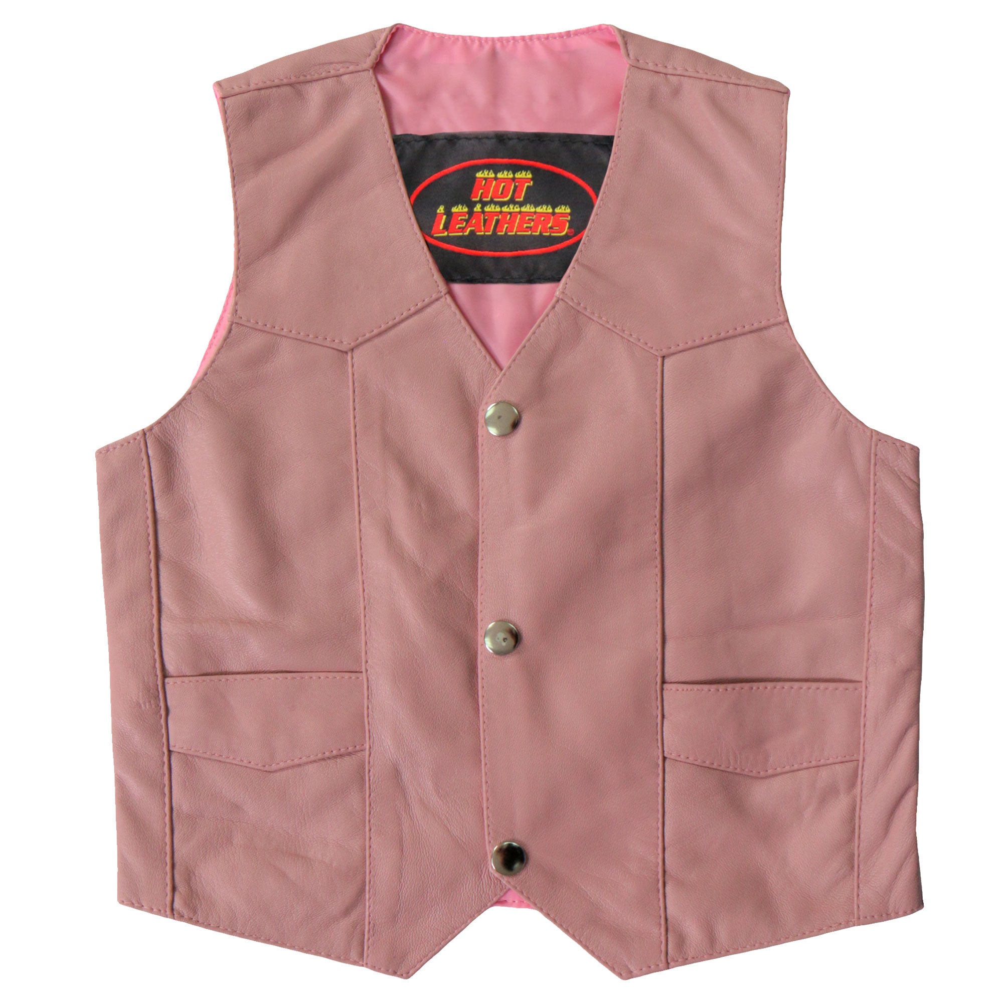 Hot Leathers Vest Toddler Pink