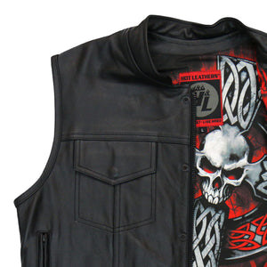 Hot Leathers Vest Celtic Cross Liner Carry Conceal