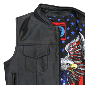 Hot Leathers Vest Patriotic Liner Carry Conceal