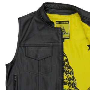Hot Leathers Vest Don't Tread Liner Carry Conceal