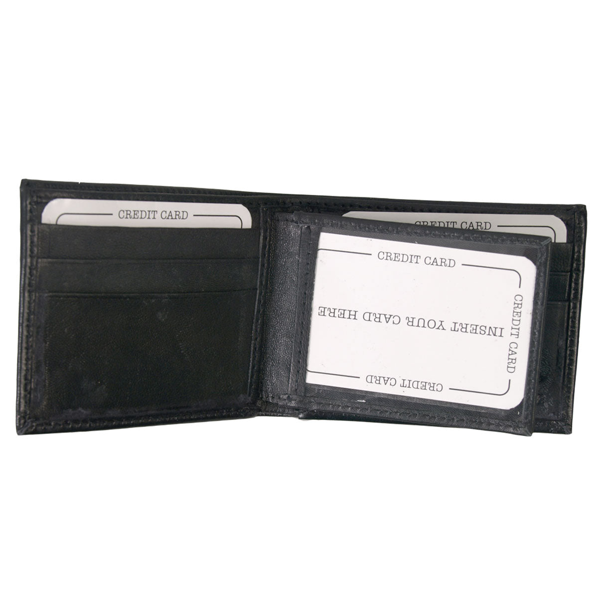 Hot Leathers Leather Bi-Fold Wallet