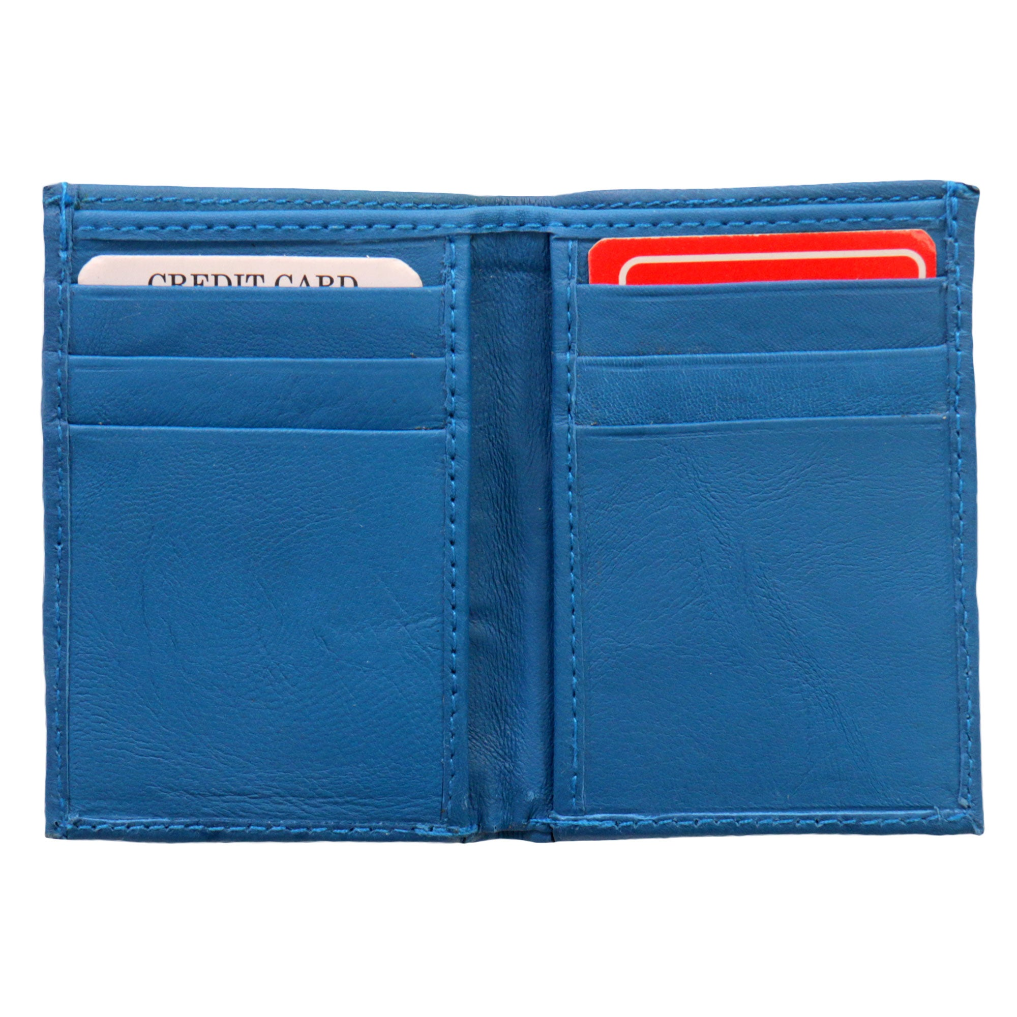 Hot Leathers Blue Credit Card Holding Wallet