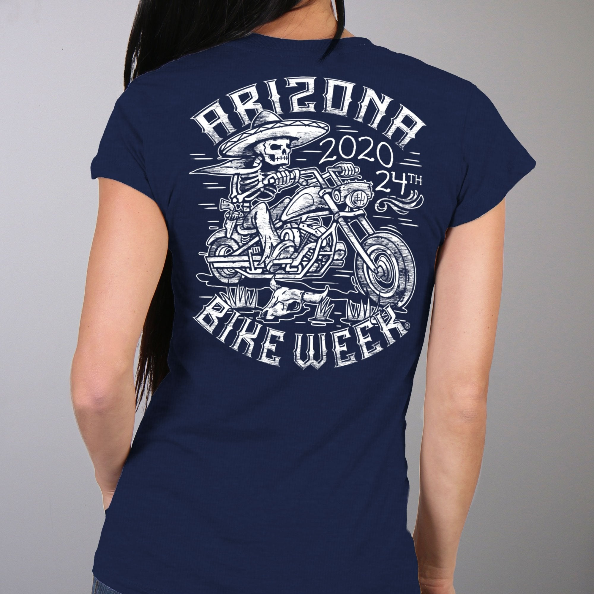 Official 2020 Arizona Bike Week Ladies Mexicali T-Shirt