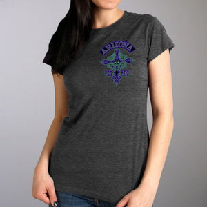 Official 2020 Arizona Bike Week Cross De Lis Dark Gray Ladies Shirt