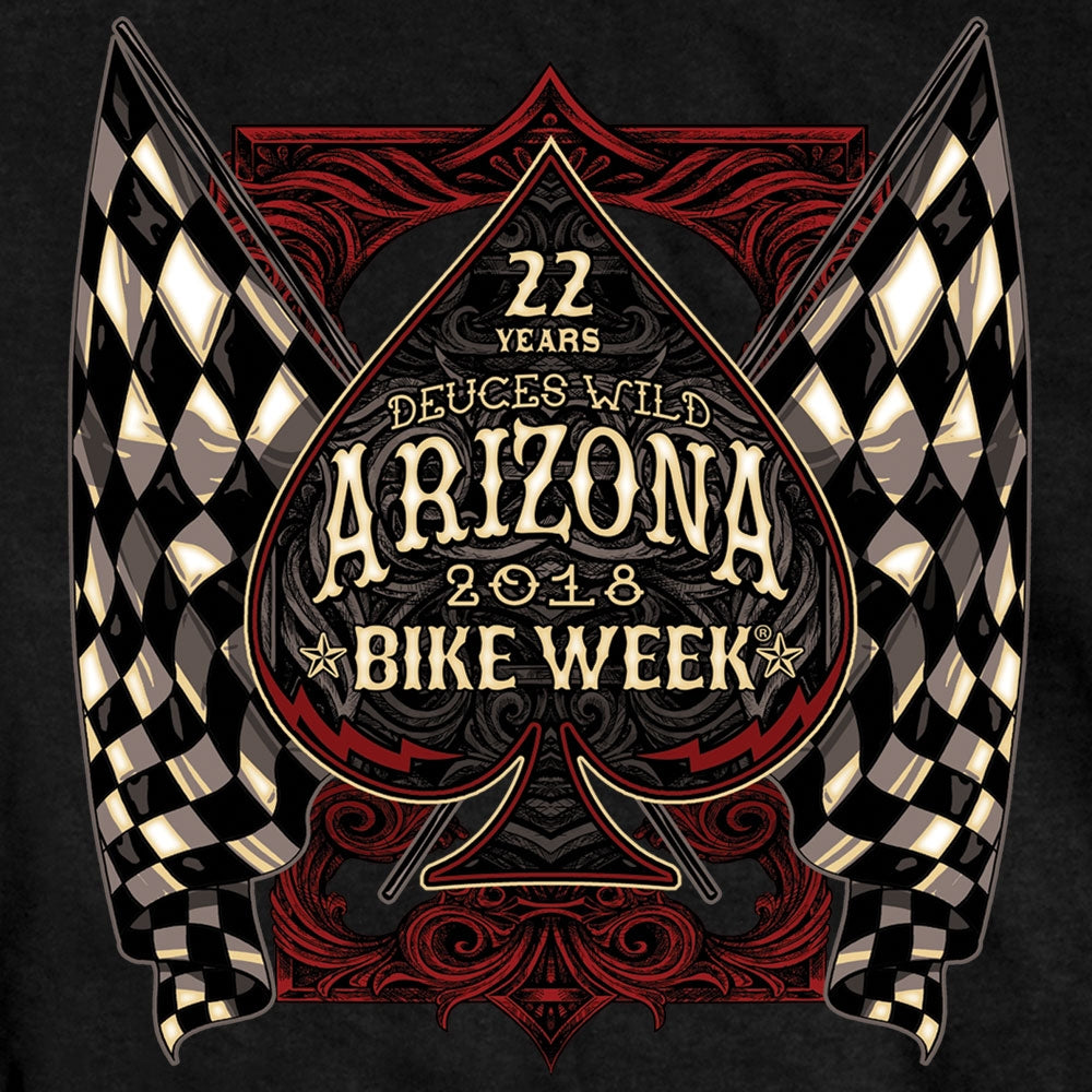 Official 2018 Arizona Bike Week Checkered Flag T-Shirt