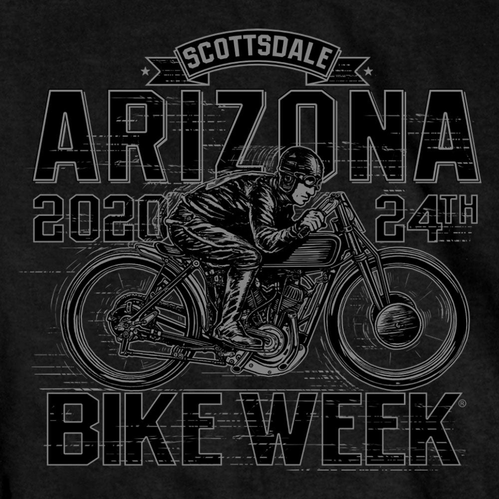 Official 2020 Arizona Bike Week Flat Tracker T-Shirt