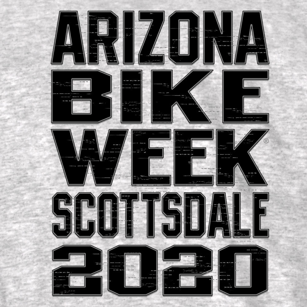 Official 2020 Arizona Bike Week Flat Tracker Ash T-Shirt